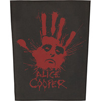 Alice Cooper Men's Splatter Hand Back Patch Black