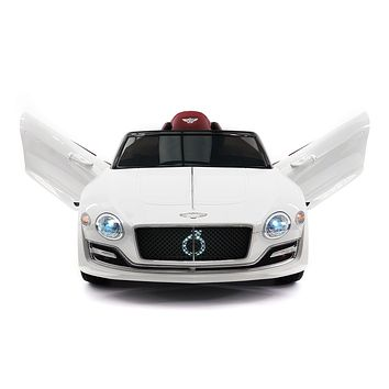 Bentley EXP 12V Kids Electric Ride-On Car with R/C Parental Remote | White