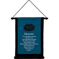 New Age Source Small Cotton Banner - Namaste