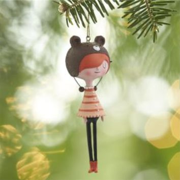 Beatnik Girl Ornament