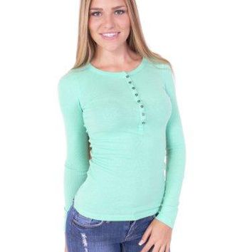 Long Sleeves Cotton Top Shirt with Buttons