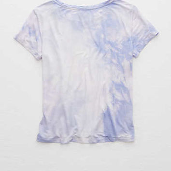Aerie Real Soft® Easy Tee , Washed Plum