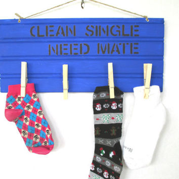Laundry room sign, Humor sign, home decor, handmade sign, Laundry room decor, Missing socks sign