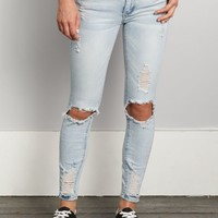 Light Blue Distressed Ankle Jegging | Jeggings | rue21