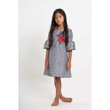 Zoe Big Girls' Embroidered Organza Dress