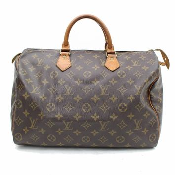 Authentic Louis Vuitton Hand Bag Speedy 35 M41524 Browns Monogram 260265