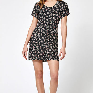 Lisakai Floral Print Button-Down Shift Dress at PacSun.com