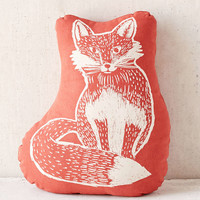 Plum & Bow Woodblock Fox Pillow - Urban Outfitters