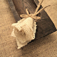 Burlap Boutonniere Rustic Wedding Groomsmen Boutonnieres