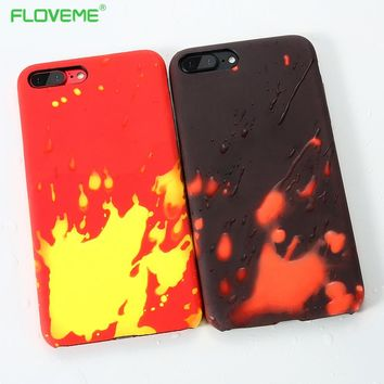 FLOVEME Thermal Sensor for Samsung Galaxy S8 Case S8 Plus Cases S6 Edge Cover Thermal Heat Induction for iphone 6 7 5s plus Capa