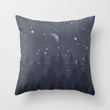 Night Full Star Throw Pillow by Berwies