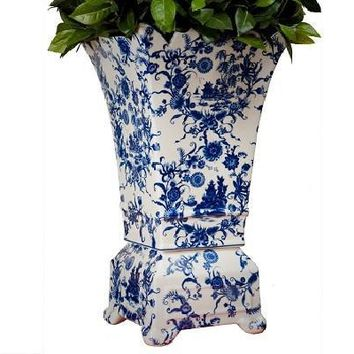 Blue & White Porcelain Planter