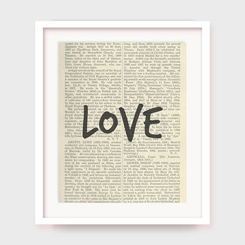 Love Art Print, Home Decor Printable, Love Wall Art Quote, Instant Download