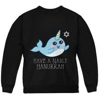 ONETOW Narwhal Have a Narly Gnarly Hanukkah Youth Sweatshirt