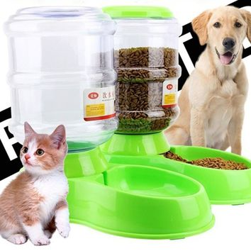 Large Pet Dog Cat Automatic Feeder 3.5L Dish Food Bowl Dispenser Portion Control Pet Puppy Kitten Feeding Tools