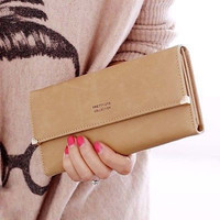 4 Colors Lady Woman Retro Purse Clutch Wallet Long Card Holder Bag Convenient Simple