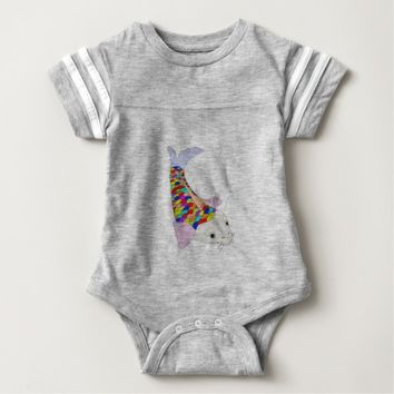 Colorful fish baby bodysuit