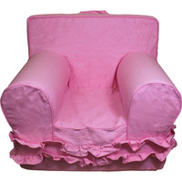 Pink with Ruffles Chair Cover for Foam Childrens Chair