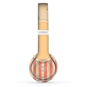 The Bright Glossy Gold Polka & Striped Label Skin Set for the Beats by Dre Solo 2 Wireless Headphones
