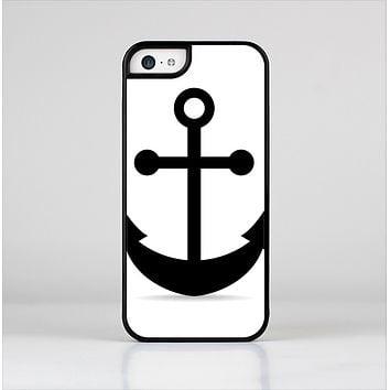 The Solid Black Anchor Silhouette Skin-Sert Case for the Apple iPhone 5c