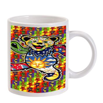 Gift Mugs | The Grateful Dead Dancing Bear Pattern Ceramic Coffee Mugs