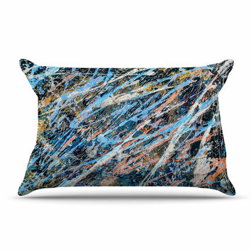 "Bruce Stanfield ""Cobalt One"" Blue Abstract Pillow Sham"