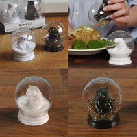 Gamago Snow Globe Salt and Pepper Shakers
