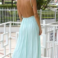 Candied Petals Maxi Dress - Mint