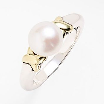 Women's Lagos 'Luna' Pearl Ring - Silver/ Pearl