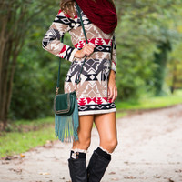 Right Way Sweater Dress, Black/Red