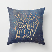 Wibbly wobbly (Doctor Who quote) Throw Pillow by Marta Lemon
