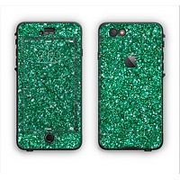 The Green Glitter Print Apple iPhone 6 Plus LifeProof Nuud Case Skin Set
