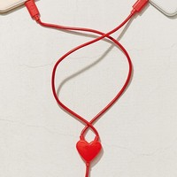 Kikkerland Design Dual Heart Lightning Cable | Urban Outfitters