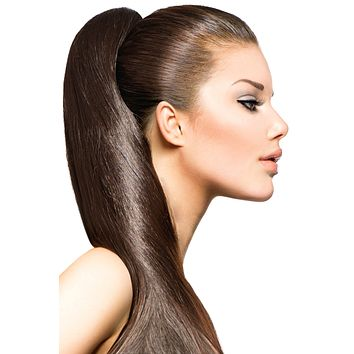 """16"""" Clip In Hair Extensions: No 6 Chestnut Brown"""