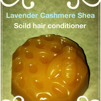 3 oz lavender cashmere Shea   Silk Peptide enriched Solid Reconstructive Hair Conditioner Bar~Great for thick,curly,