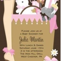 DOC MILO - BABY SHOWER INVITATIONS, BABY BAG PINK, DOC MILO | DOC MILO - DOC IN-149