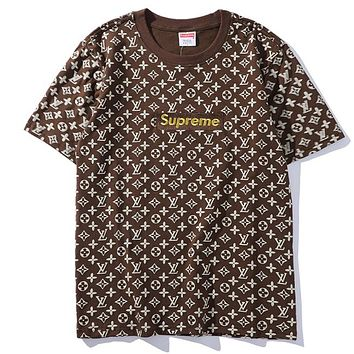 Supreme Woman Men Fashion Casual Shirt Top Tee