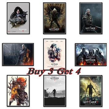 The Witcher 3 Wild Hunt Hot Game Art Poster A3 Size Print Cirilla Geralt Pictures for Home Wall Decor 42*30cm