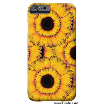 Sunflowers, iPhone 6 Case, iPhone 5 Case, Floral, Art, sunflower, iPhone cases, by Ingrid, iPhone 5S case, iPhone 6 Plus Case