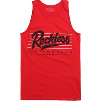 Young & Reckless Essentials Tank Top - Mens Tee - Red -
