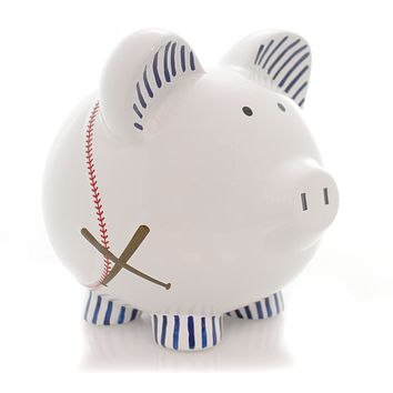 Bank Baseball Pig Piggy Bank