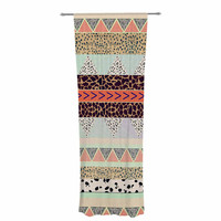 "Vasare Nar ""Animal Print Tribal"" Multicolor Pastel Decorative Sheer Curtain"