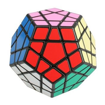 Megaminx Black Magic Cube Brain Teaser Twist Puzzle Toy
