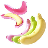 New Fruit Banana Case Protector Box Holder Lunch Container Food Storage 3 Colors [8802220556]