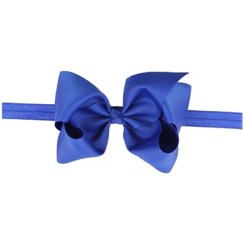 Baby Girls Cute Headbands Grosgrain Ribbon Boutique Hair Bow Band