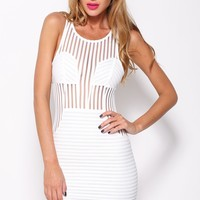 Forever Mine Dress White