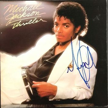 LMFONY Michael Jackson Signed Autographed 'Thriller' Record Album (PSA/DNA COA)