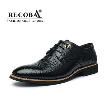 Men casual shoes luxury genuine leather business formal party wedding dress brogues derby shoes for men hombre
