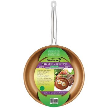 "Brentwood Nonstick Induction Copper Fry Pan (11"")"