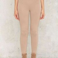 Perfect Strangers High-Waisted Leggings - Beige